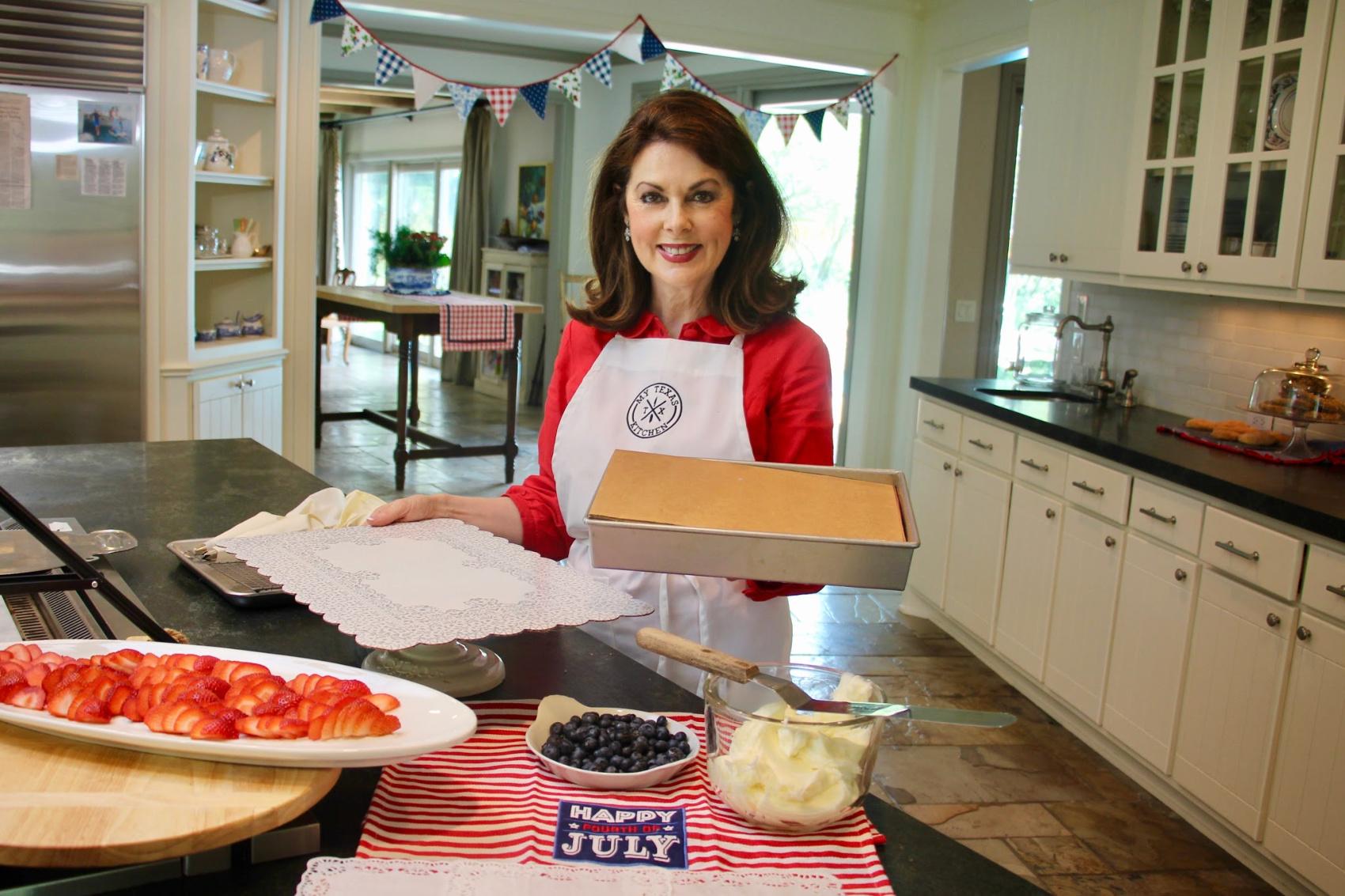 Flag Cake Preparation